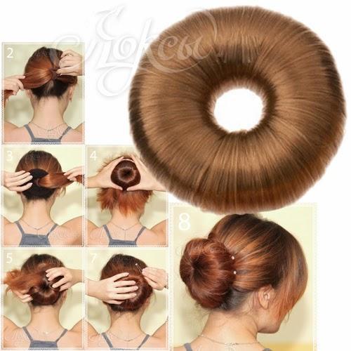 Прически из резинки для пучка - Сеточки для волос, резинки, валики, твистеры - PRO Спорт, г