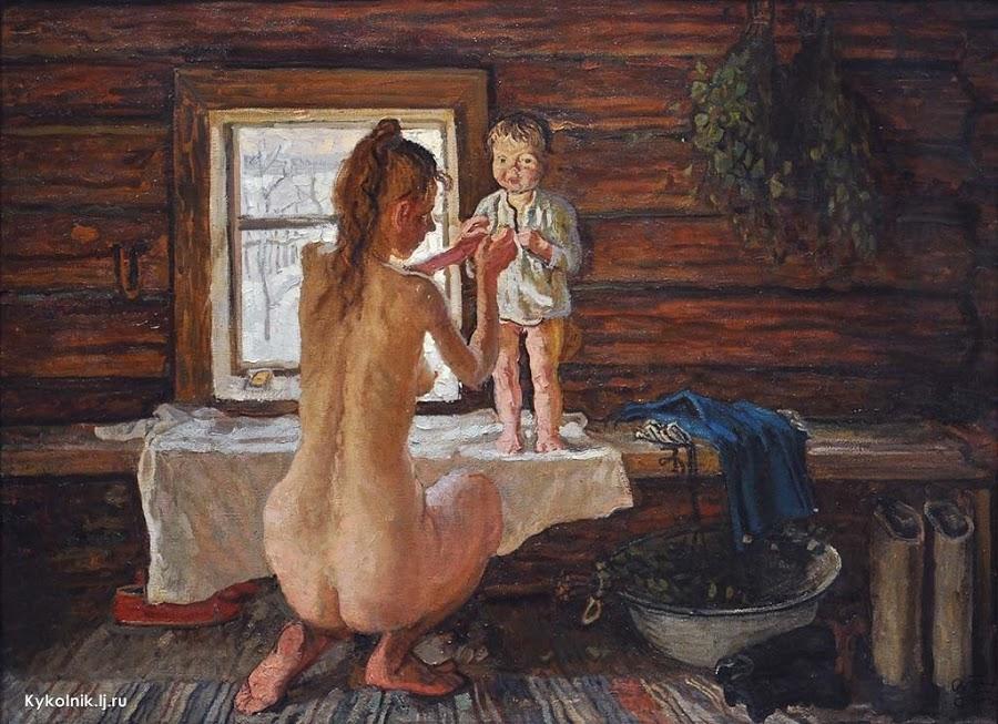 Порно русское фото баньки деревенские любят попки