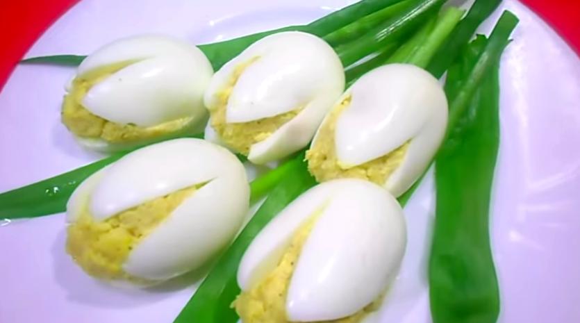 Удивите своих женщин! Красивая закуска Белые тюльпаны