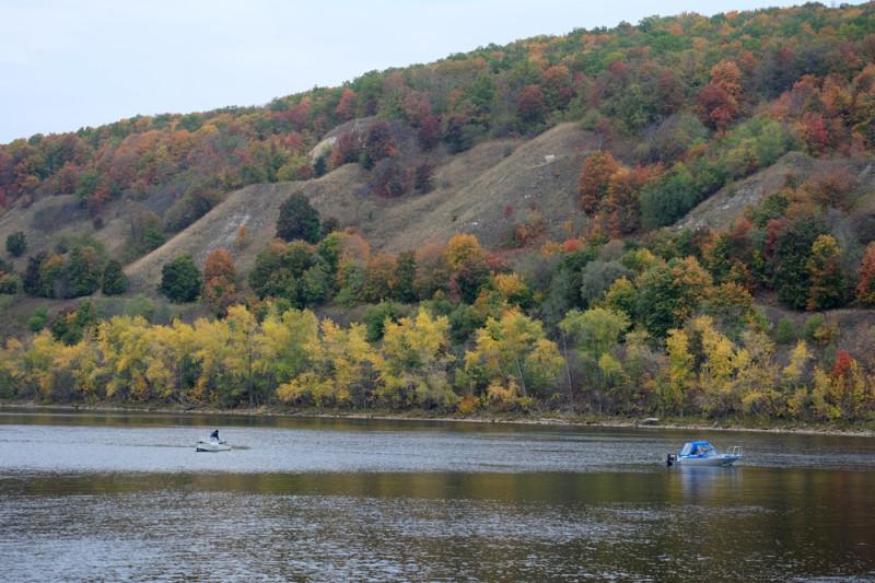 Осенняя раскраска Винновских холмов.