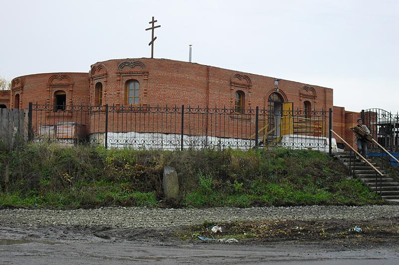 Тогда, в 2012 году, еще строящийся Богоявленский собор. Сегодня храм уже закончен и действует.