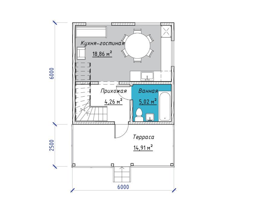 1 - План этажа - 1Этаж 1