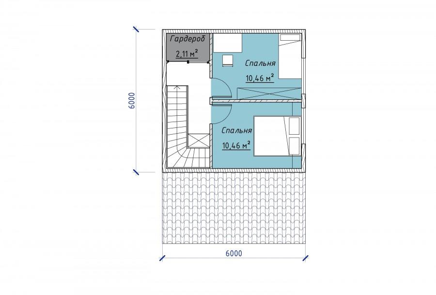 1 - План этажа - 1Этаж 2