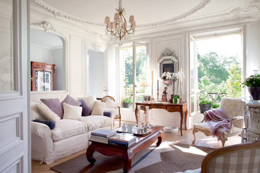 A chic french apartment with a vintage vibe