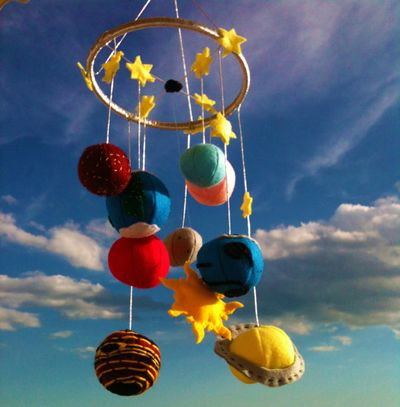 Planets Mobile Solar System Baby Mobile Outer Space Mobile