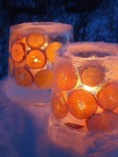 Как сделать ледяные фонари