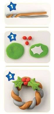 Новогодние игрушки из пластилина мастер класс
