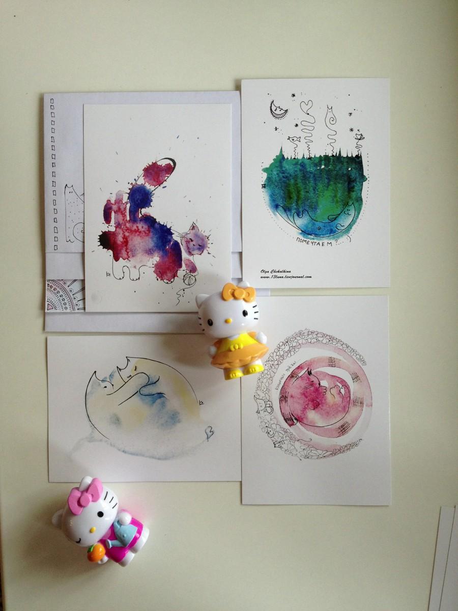 Как напечатать открытку по своему рисунку