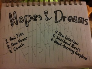 Hopes and Dreams List