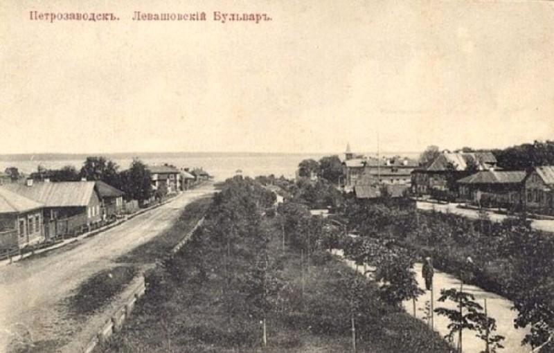 Дореволюционная открытка с фотографией Левашовского бульвара