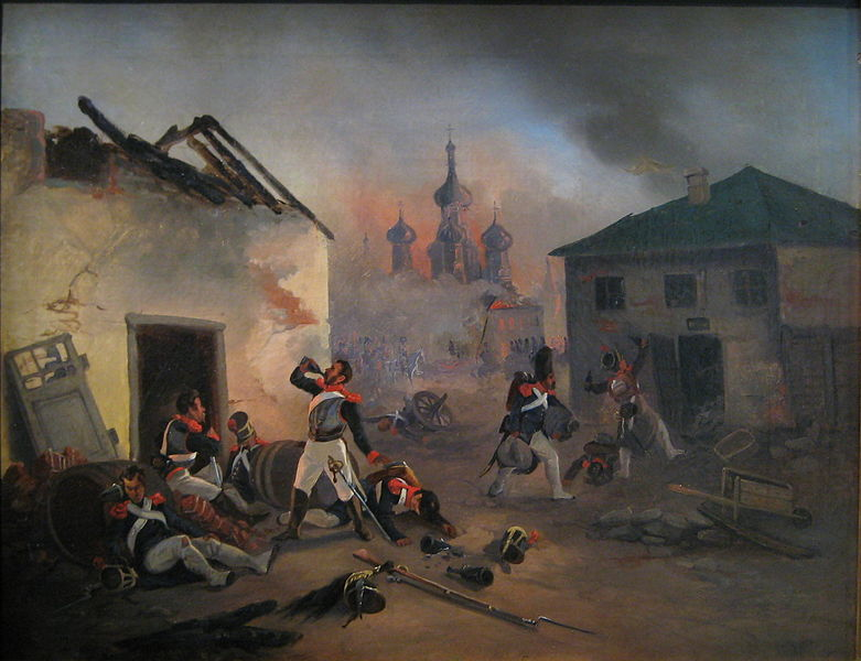 Moscow_fire_1812_French_soldiers_drunking
