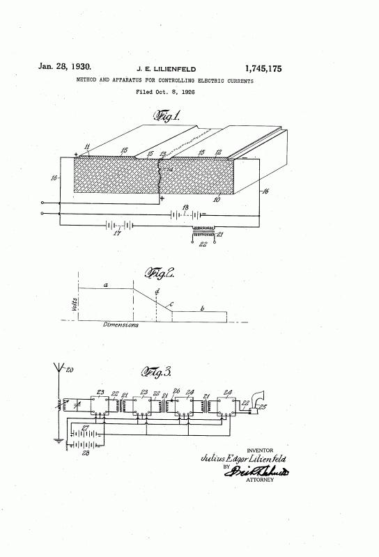 патента Лилиенфельда