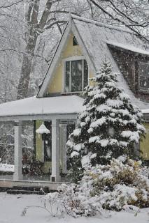 snowy facade