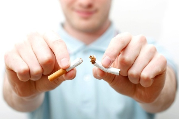 бросил курить.