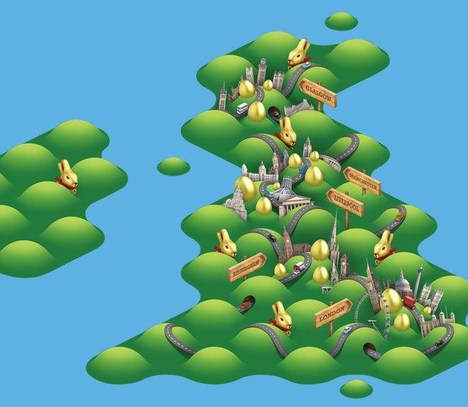 Big Egg Hunt UK 2013 map