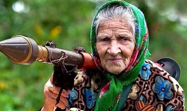Старуха с гранатомётом