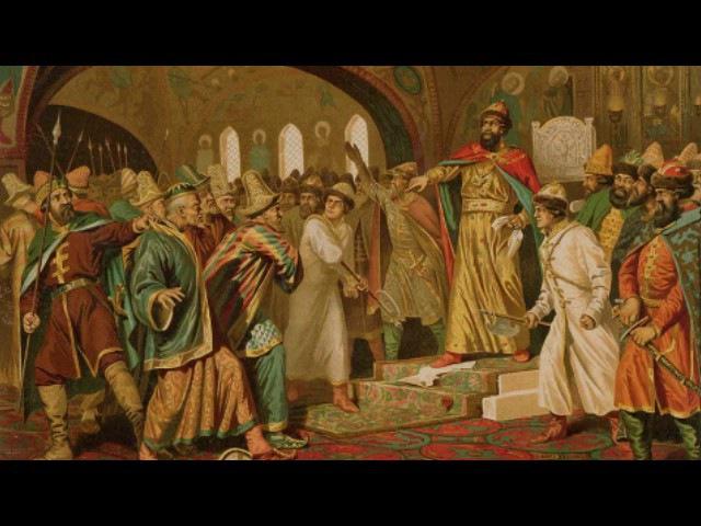 Иоанн III топчет ханскую басму