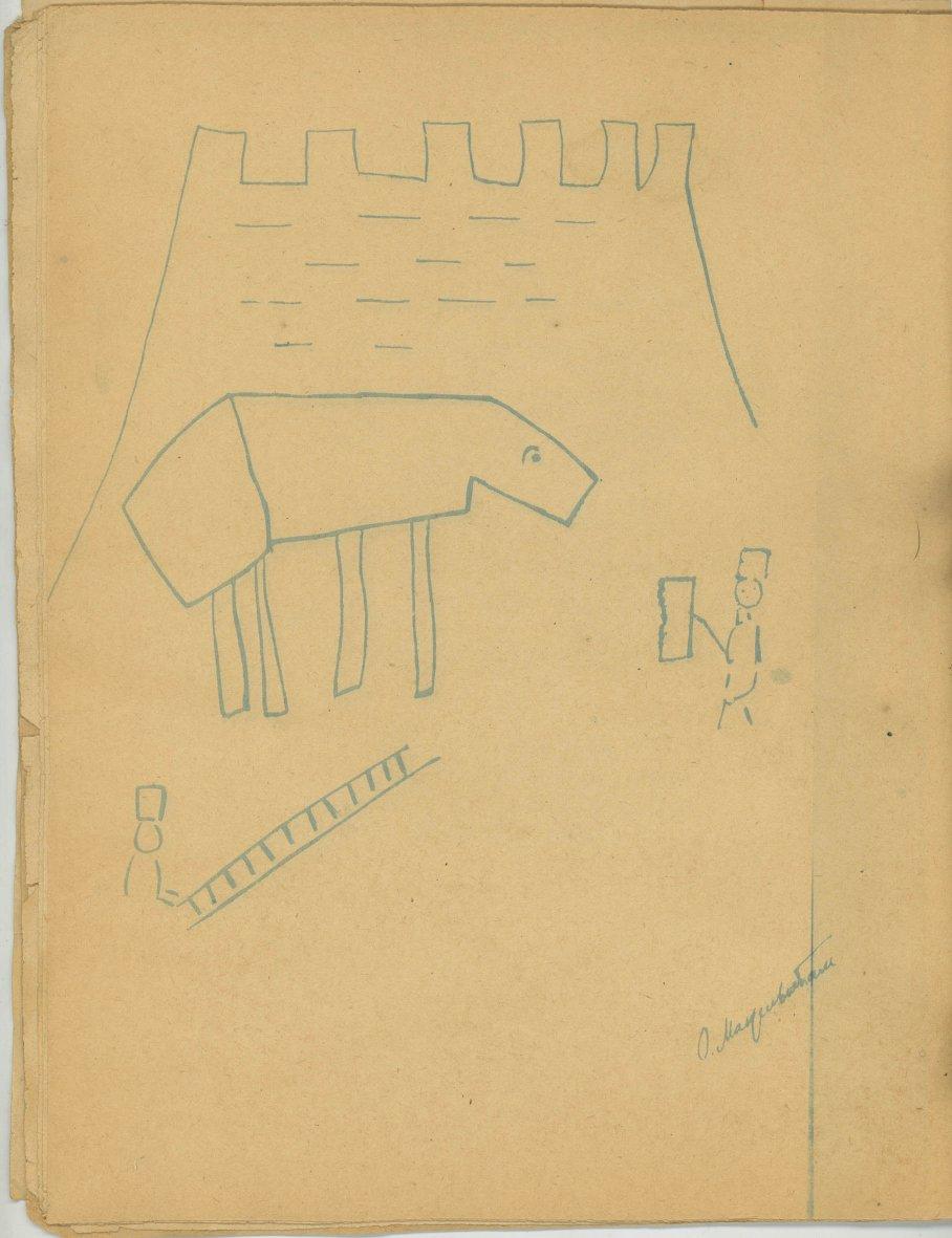 Троянский конь: рисунок О.Э. Мандельштама