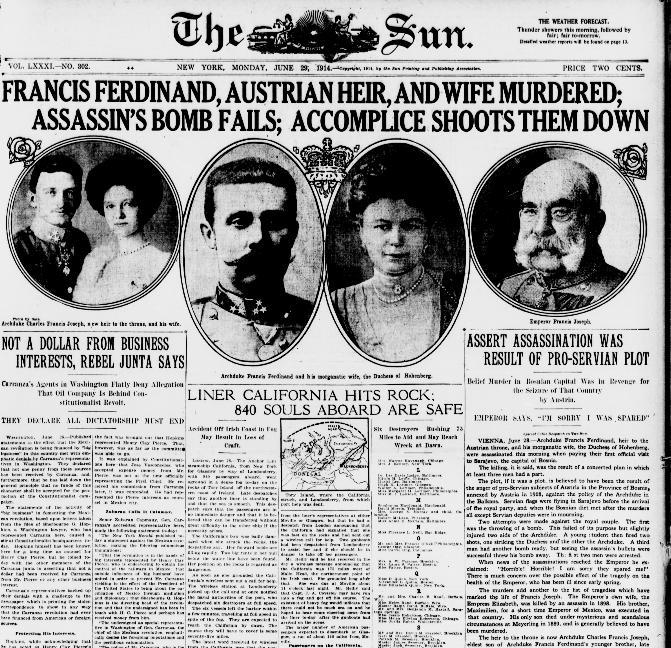 murder at sarajevo fiction article essay