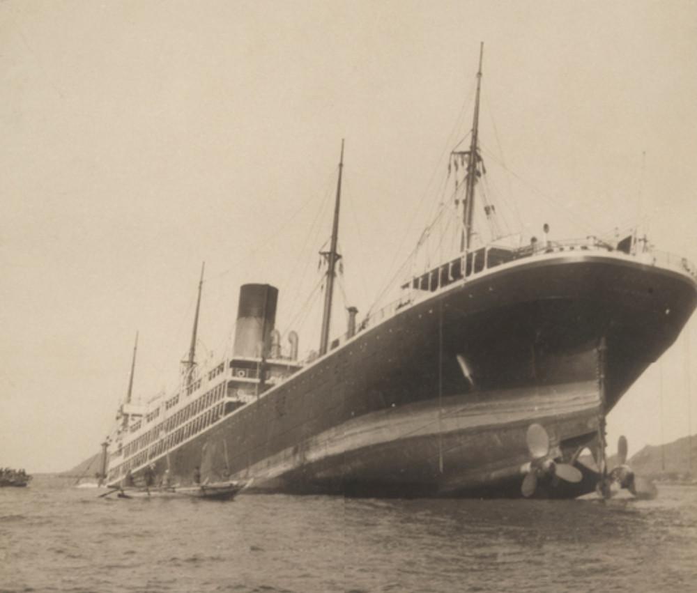 Dakota 1904. В марте 1907 села на мель в Токийском заливе и была списана.jpg