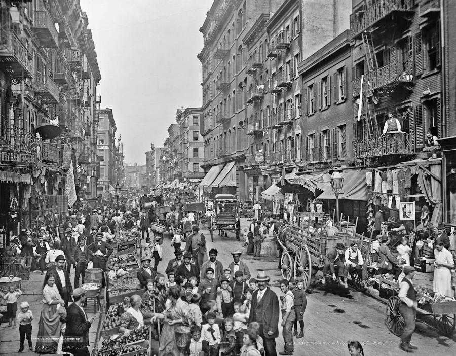 Mulberry Street, New York, New York, ca. 1900