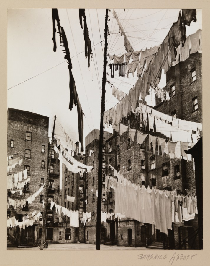 Berenice Abbott (1898-1991). Court of the First Model Tenements in New York City. March 16, 1936.