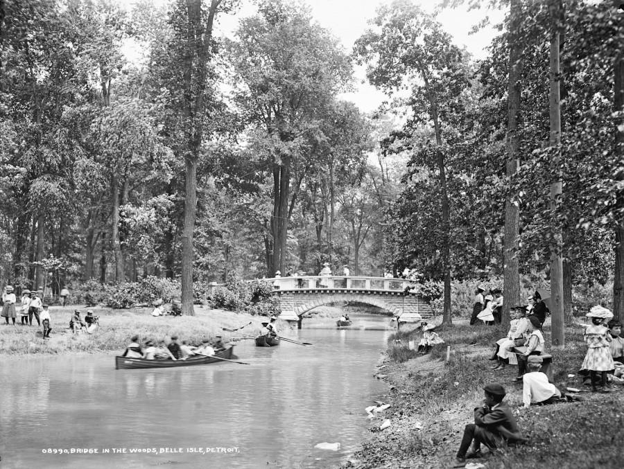 Bridge in the woods, Belle Isle Park, Detroit, 1900-1906