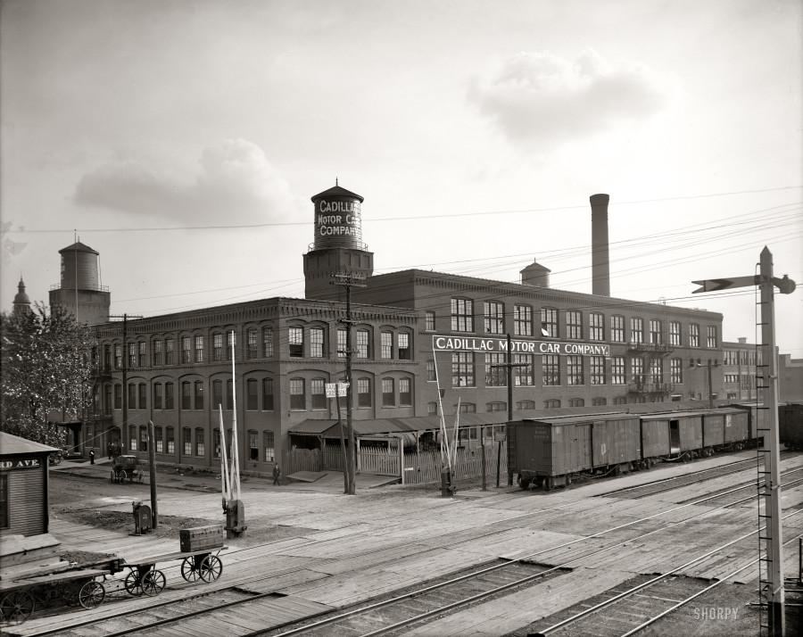 1908 завод кадиллак9