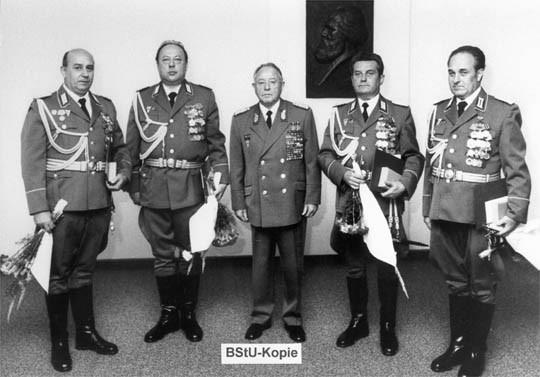 Эрих Мильке и верхушка Штази