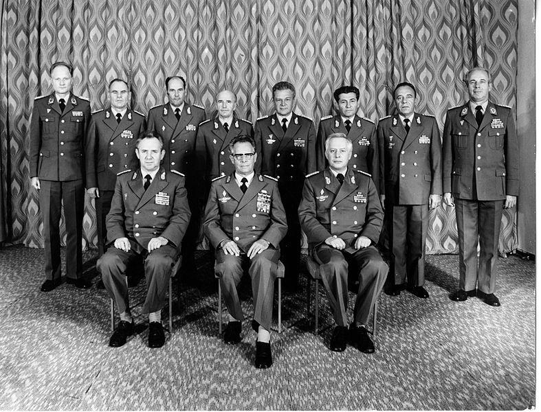 Военный совет коммандования ВВС и ПВО ННА ГДР в 1986г