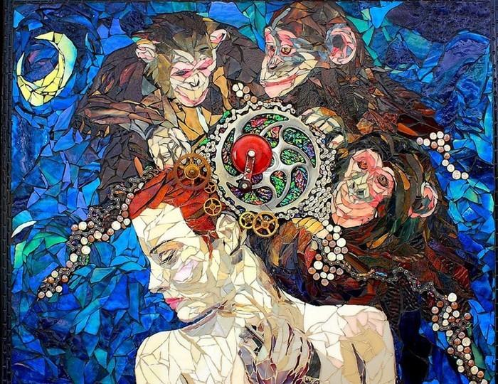 интересная мозаика Лоры Харрис (Laura Harris), художницы с рассеянным склерозом_7