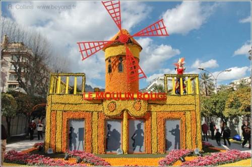 фестиваль цитрусовых в Ментоне (Франция)
