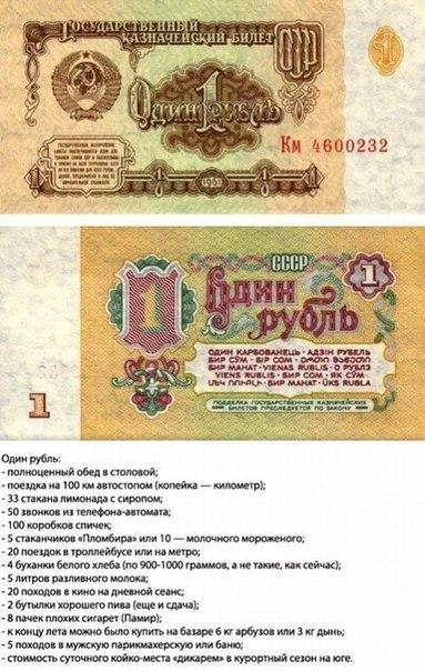 что можно было купить в СССР на 1 рубль