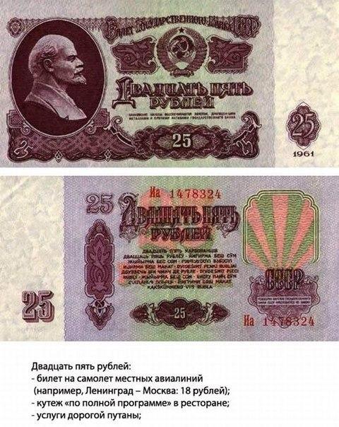 что можно было купить в СССР на 25 рублей