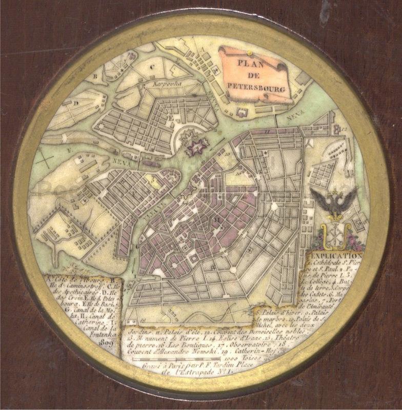 план петербурга 1809