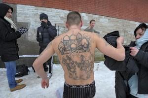 православный верующий купался в проруби