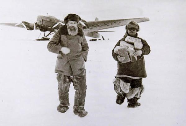 Шмидт и Папанин. 1937. дрейфующая полярная станция «Северый полюс-1»