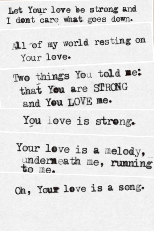 your love is strong
