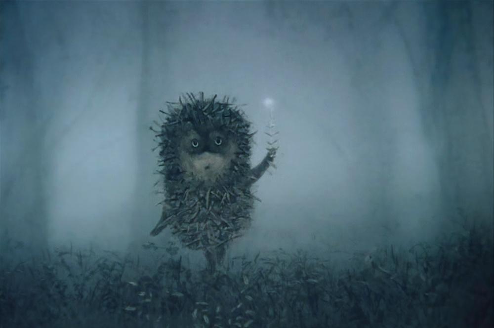 прикольные картинки ежик в тумане