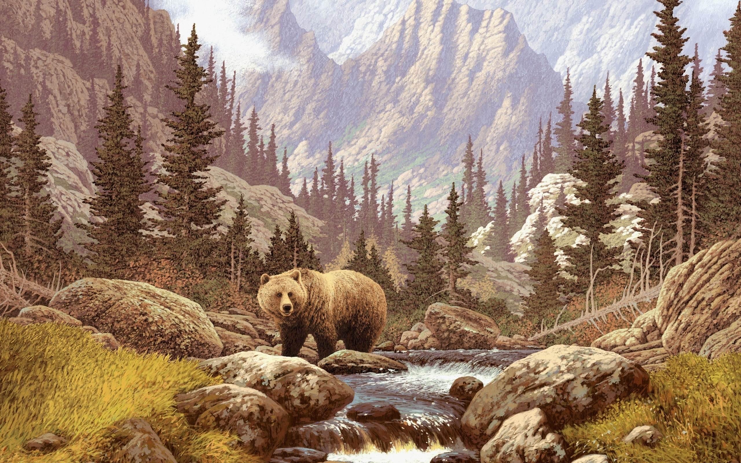 Bear in the Taiga