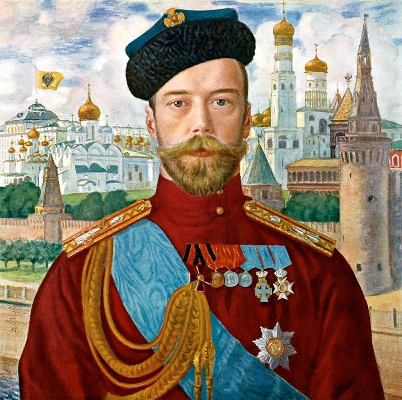 Кустодиев,-Борис--Император-Николай-II