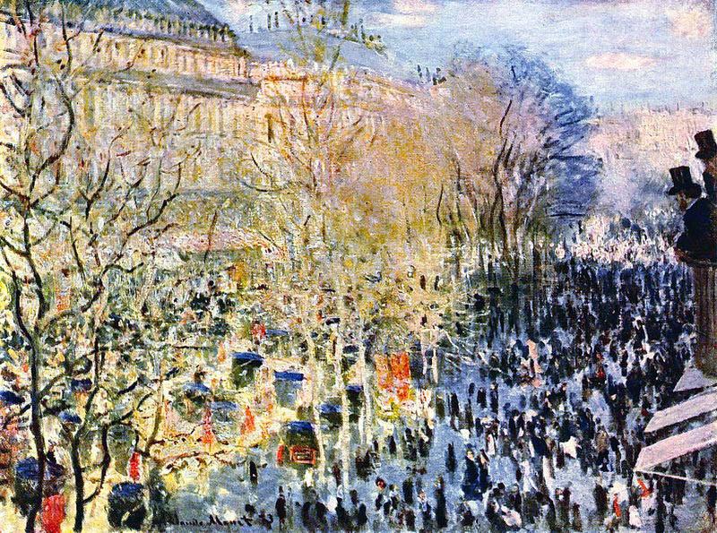 Бульвар Капуцинок в Париже (Моне Клод)