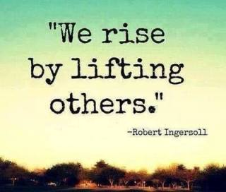 ____by lifting others