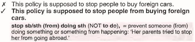 stop + кто-то + делать что-то