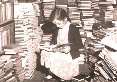 девочка в книгах