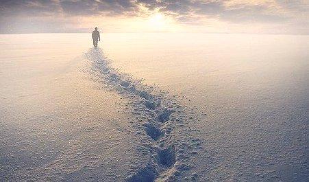 дорога по снегу