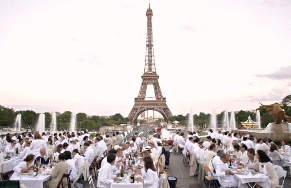 Diner-en-Blanc ужин в белом