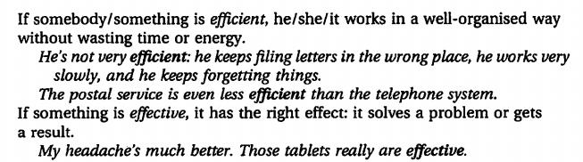 effective - efficient - resultant - resultative. разница