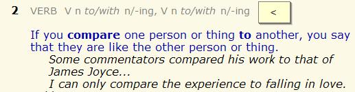 compare to - compare with. разница