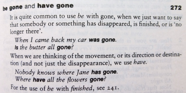 be gone - have gone. разница